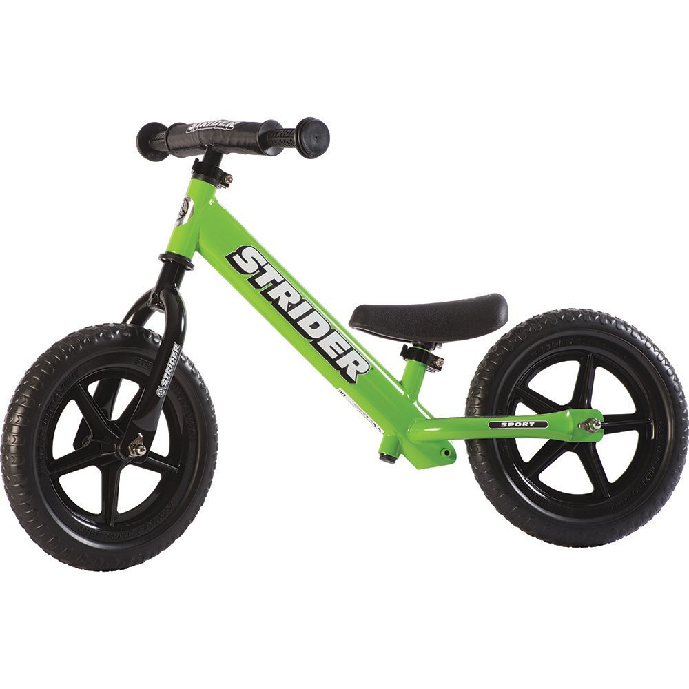 STRIDER 12 Sport Balance Bike, Green