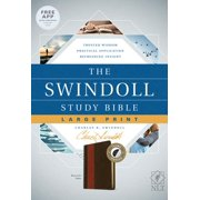 The Swindoll Study Bible NLT, Large Print (LeatherLike, Brown/Tan, Indexed)