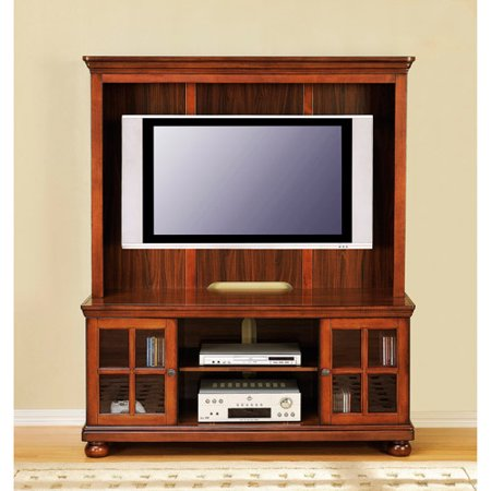 Better Homes And Gardens Madison Cherry Tv Stand With Hutch For Tvs Up To 50