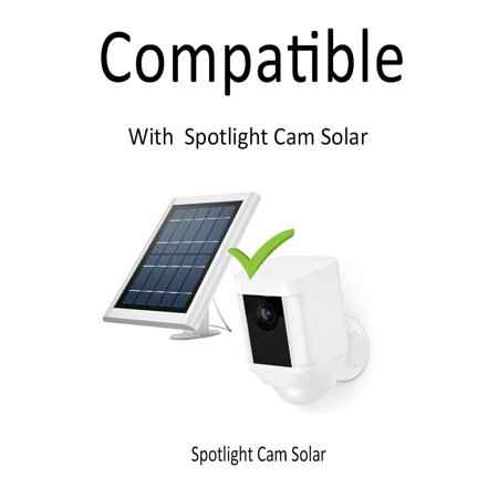 2.5m/8.2ft DC Extension Cable Compatible with Ring Spotlight Cam Battery Solar Panel Weatherproof Placing Solar Panel Further for Maximum Sunlight Exposure, White - image 6 of 7