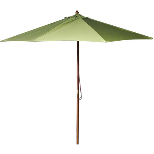 9' Wood Market Umbrella, Multiple Colors