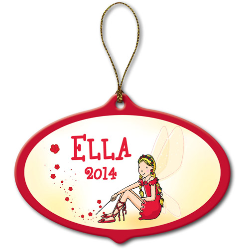 Personalized Rainbow Magic Ruby the Red Fairy Ornament