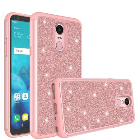 new products 2d0fe af46a LG Stylo 4 Case, LG Stylo 4 Plus /LG Q Stylus Case Cute Girls Women Glitter  Case [Screen Protector] Diamond Bling Hybrid Protective LG Stylo 4/LG ...