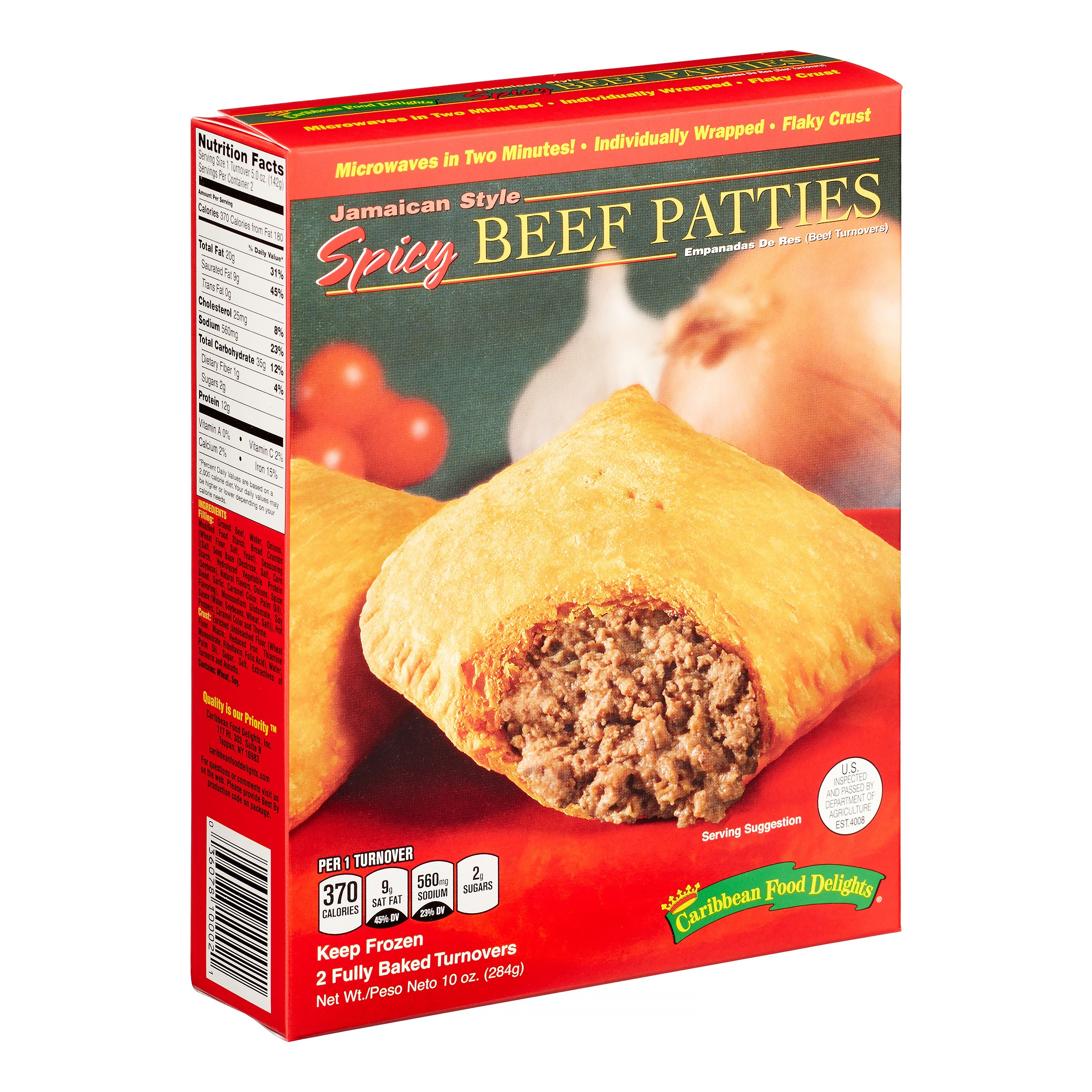 Caribbean Food Delights Jamaican Style Spicy Beef Turnover Patties ...