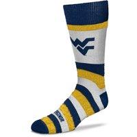 West Virginia Mountaineers For Bare Feet Women's Pro Stripe Crew Socks