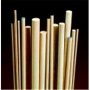 Chenille Kraft 0.25 x 36 in. Wood Smooth Birch Dowel, White, Pack - 10