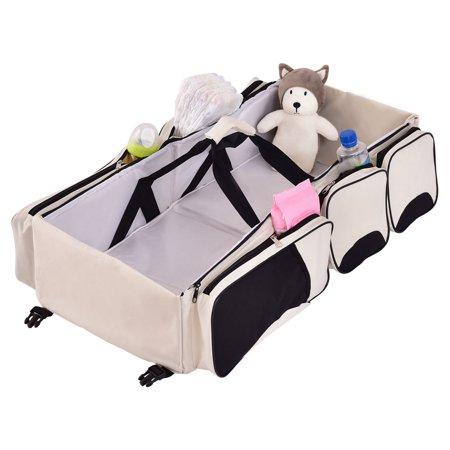 Safeplus 3 in 1 Portable Infant Baby Bassinet Diaper Bag Changing Station Nappy Travel ()
