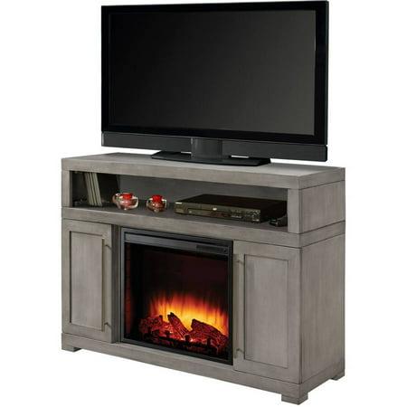 Muskoka Mackenzie 48 Media Electric Fireplace Light Weathered Grey Finish