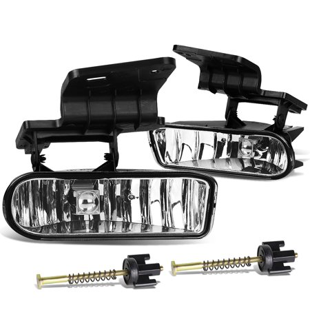For 1999 to 2006 Chevy Silverado / Tahoe / Suburban Pair of Bumper Driving Fog Lights (Clear Lens) 00 01 02 03 04 05 (Chevy Suburban Fog Driving Light)