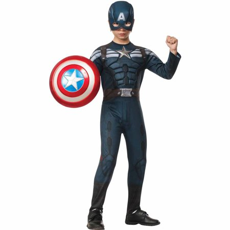Captain America The Winter Soldier Deluxe Stealth Child Halloween Costume](Captain America Halloween Costume Kids)