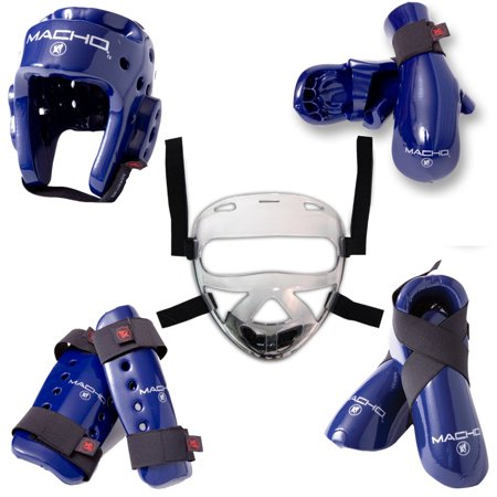 Macho Dyna 8 piece sparring gear set with Shin Guards and Face Shield