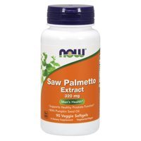 NOW Supplements, Saw Palmetto 320 mg, 90 Veg Softgels