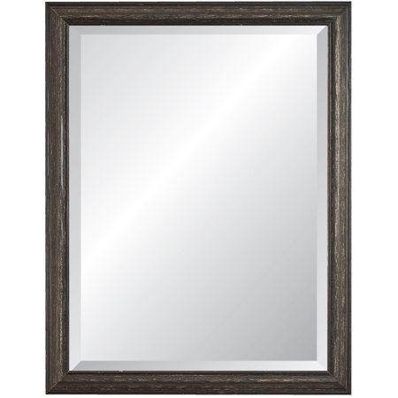 Alpine Savannah Beveled Black Wall Mirror - 27W x 39H in. ()