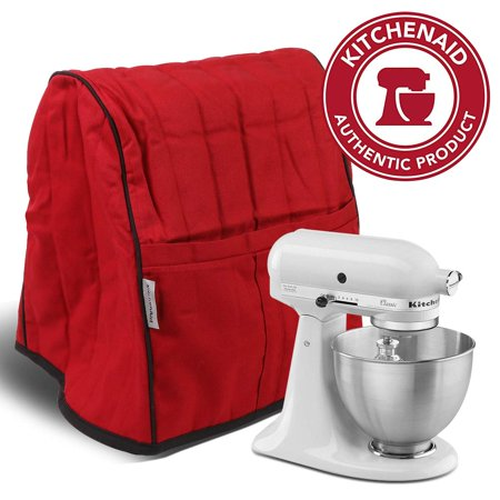 KitchenAid Brand Stand Mixer Cover Quilted Organizer Bag Mat Case Pockets Red Stand Mixer Cloth Cover