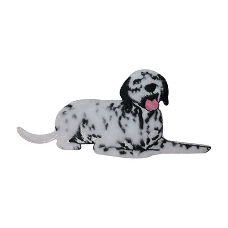 (ID 2831 Fluffy Dalmatian Dog Patch Felt Puppy Pet Embroidered Iron On Applique)