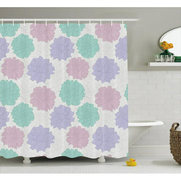 Dahlia Flower Decor Shower Curtain By , National Local