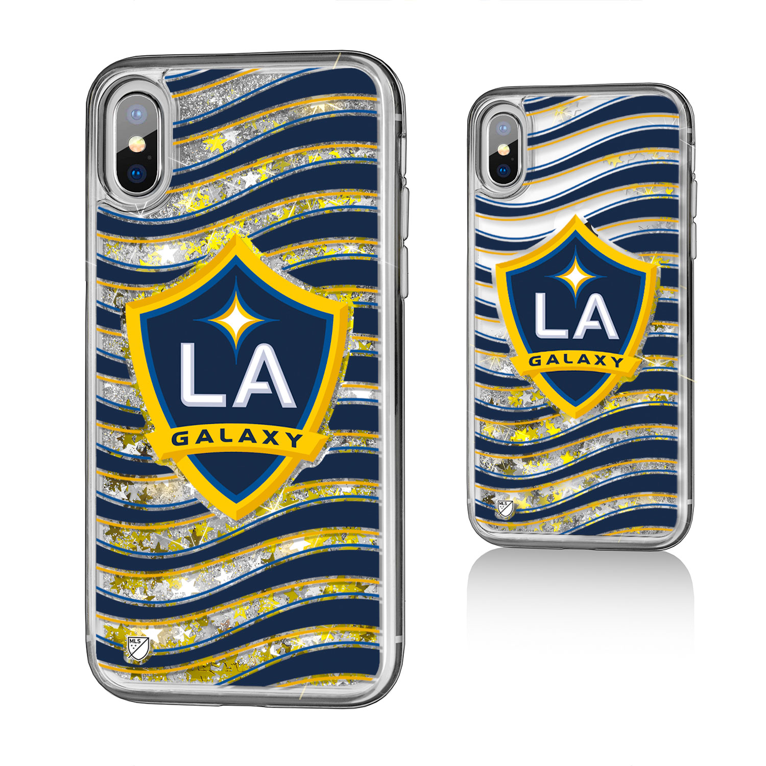 Los Angeles Galaxy GALAXY Wave Glitter Case for iPhone X