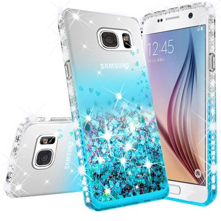 Wydan Case For Samsung Galaxy S7 Edge - Liquid Quicksand Shockproof Glitter Phone Cover - (Samsung Galaxy S7 Active Sound Cuts Out)