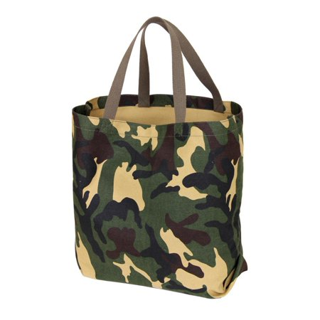Camouflage Tote (2422 Canvas Tote Bag, Woodland Camo )