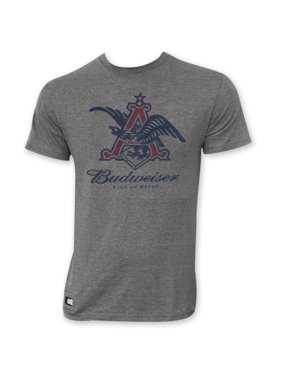 faa4d3f3b6835 Product Image Budweiser Men s Gray Pop Top Bottle Opener Vintage Eagle Logo  T-Shirt