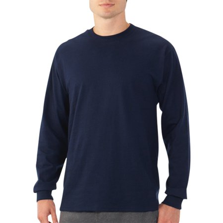 Fruit of the Loom Men's Platinum EverSoft Long Sleeve T-Shirt, Available up to size (Funny Religion Tee T-shirt)