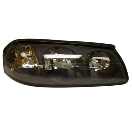 Aftermarket 2004-2005 Chevrolet Impala  Passenger Side Right Head Lamp Assembly (White Hair On Right Side Of Head)