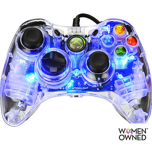 PDP Afterglow Xbox 360 Controller, Blue (Xbox 360)