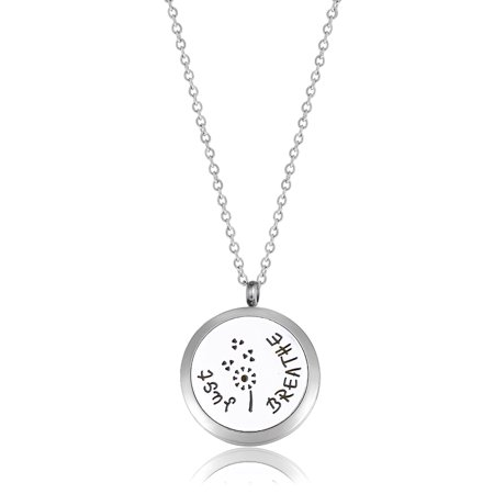 Anavia Just Breathe Dandelion Essential Oil Necklace With Gift Box