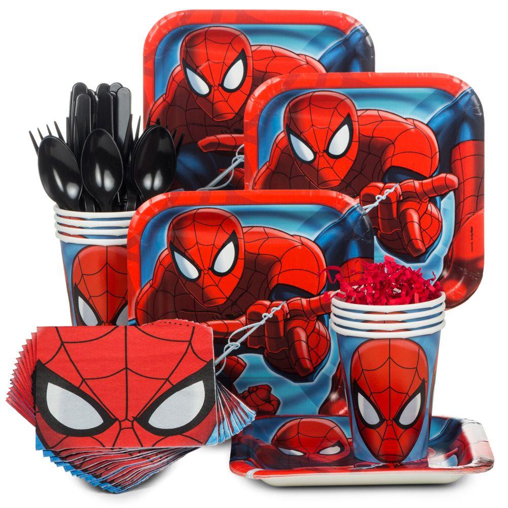 Spiderman Standard Kit (Serves 8) - Party Supplies