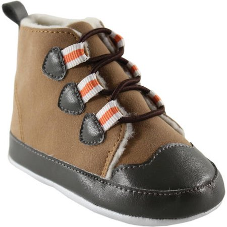 Luvable Friends Newborn Baby Boys Faux Suede Hiking Boots