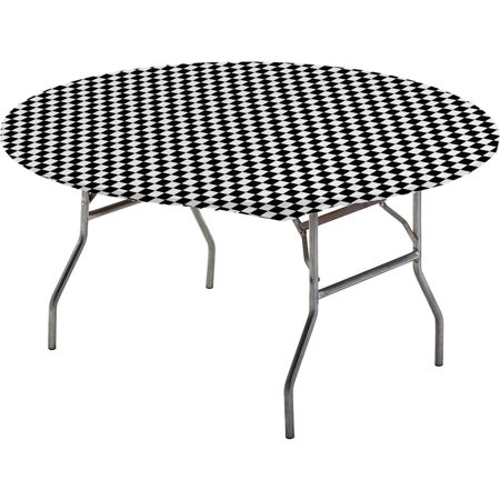 Stay Put Tablecover Black Check, 60