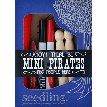 Seedling Ahoy Pirates Peg People, Mini ()