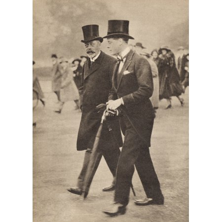 George V And His Son The Prince Of Wales The Future Edward Viii From A Photograph Taken In 1922 George V 1865 To 1936 Prince Of Wales 1894 To 1972 From His Majesty King Edward Viii Published 1936 Canv