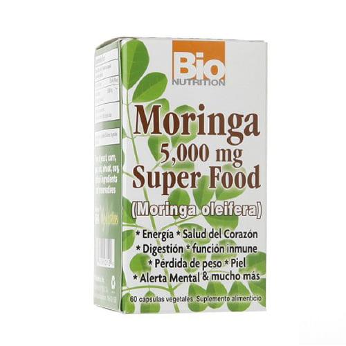 Bio Nutrition Moringa Super Food 5000 Mg Vegetarian Capsules - 60 Ea
