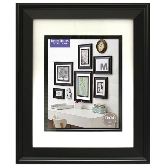 Better Homes And Gardens 11x14 Beveled Picture Frame Black