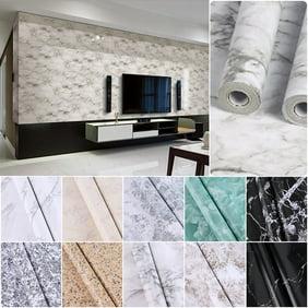 "Vinyl Gray Marble Roll Contact Paper Waterproof Self Adhesive  Wallpaper 24x197/"""