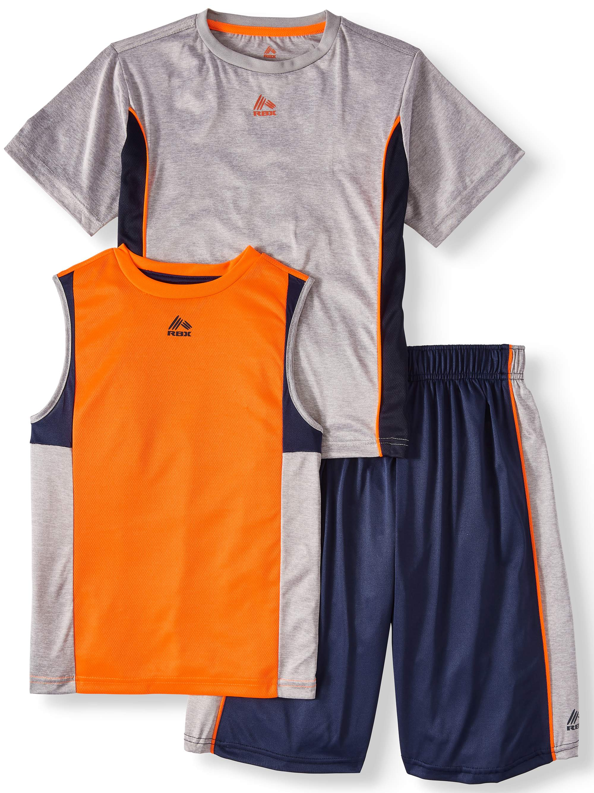 Tee, Muscle Tank and Short 3 Piece Set (Little Boys & Big Boys)