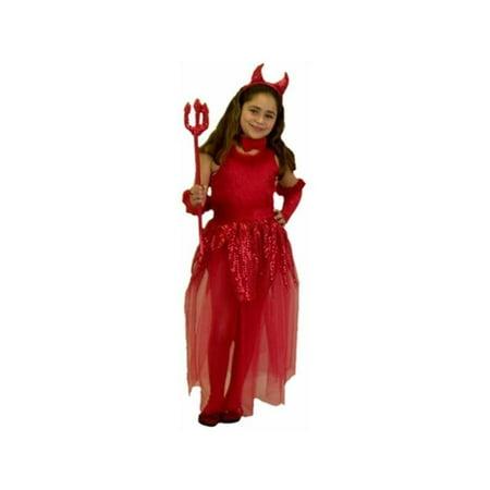 Childs Devil Girl Costume (Girl Devil Costume)