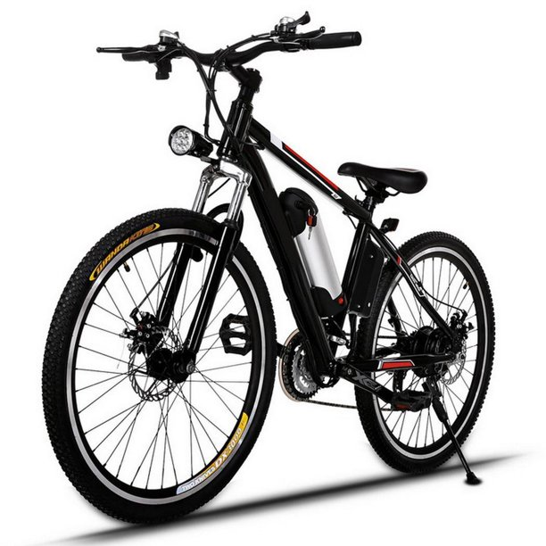 """26"""" 21 Speed 36V Electric Mountain Bicycle for Adults with Removable Lithium-ion Battery Integrated Mens Electric Bike, With LED Handlebar Display And LED Headlight"""