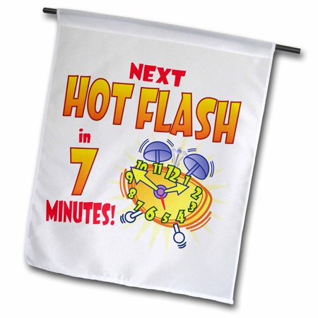 Image of 3dRose Alarm clock with Next Hot Flash - Garden Flag, 12 by 18-inch