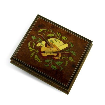 Exquisite Handcrafted Musical Instrument with Sheet Music Wood Inlay Music Box - Barcarolle of (Castlevania Symphony Of The Night Sheet Music)
