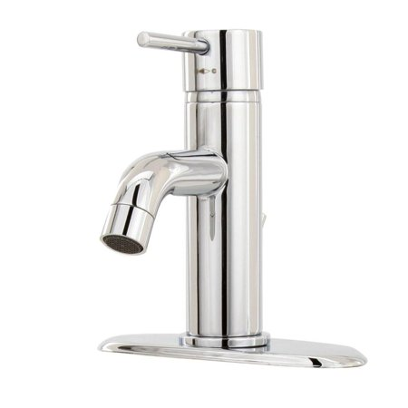 Modern Single Hole 1 Handle Low Arc Bathroom Faucet In Chrome