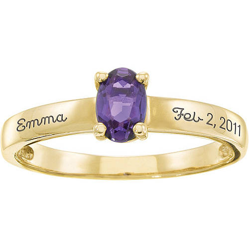 Personalized Keepsake Mother's Stacking Oval Birthstone Ring