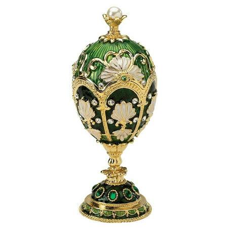 Russian Larissa Faberge Style Enameled Egg ()