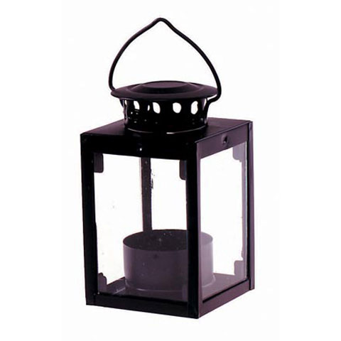 Lantern - Metal - Black - 2.5 x 2.5 x 4.125 inches
