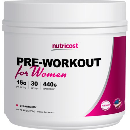 Nutricost Pre-Workout Powder for Women (Strawberry) 30