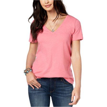 Lucky Brand Womens Splice Back Lucky Graphic T-Shirt, Pink, Medium 08 Womens Pink T-shirt