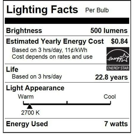 - Sunlite ETC/LED/7W/E26/CL/D/ES/27K LED 7W (60W Replacement) Torpedo Tip Clear Chandelier Light Bulbs, Medium (E26) Base, 2700K Warm White