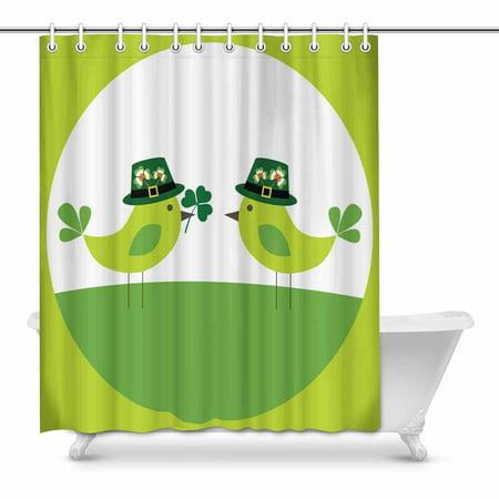 POP St, Patrick'S Day Art Digital Bathroom Shower Curtain Set 60x72 inch - image 1 of 1