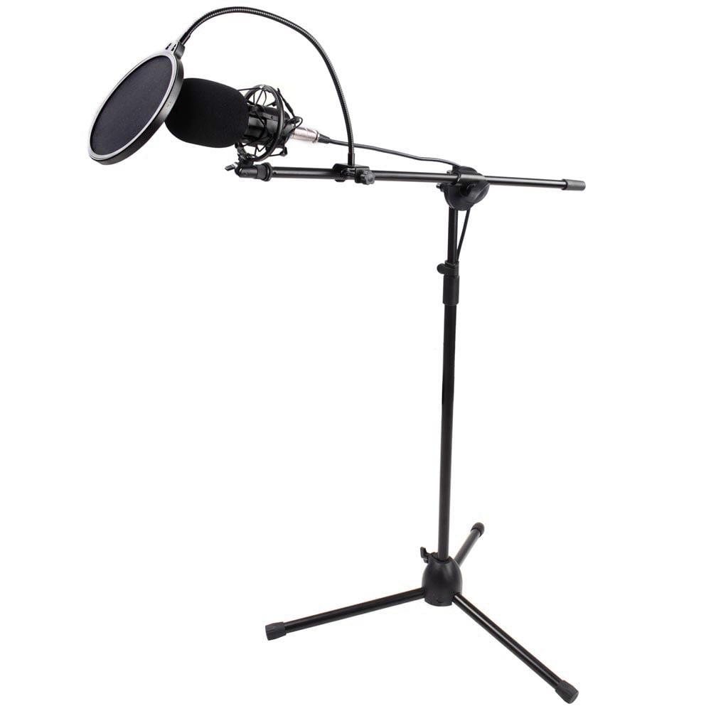 Microphone Pop Filter for Condenser Microphone Mic Wind Screen Mask Shield Mount Gooseneck - Walmart.com